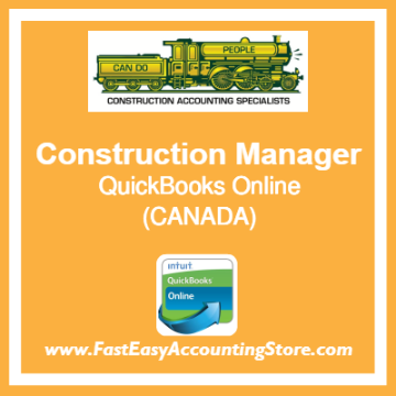 Construction Manager QuickBooks Online Chart Of Accounts Template Canada