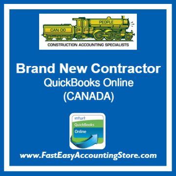 Brand New Contractor QuickBooks Online Chart Of Accounts Template Canada