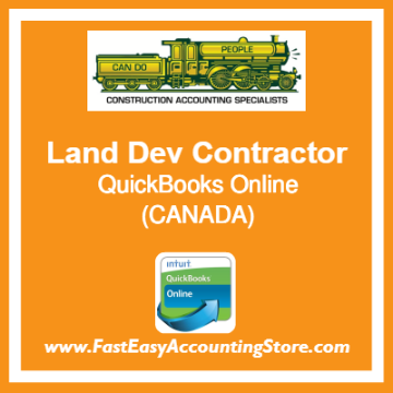 Land Development Contractor QuickBooks Online Chart Of Accounts Template Canada