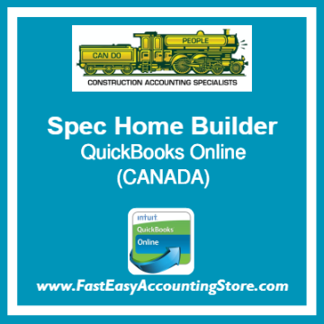 Spec Home Builder QuickBooks Online Chart Of Accounts Template Canada