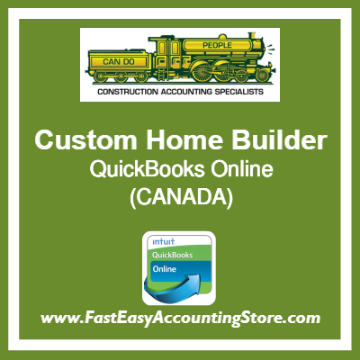 Custom Home Builder QuickBooks Online Chart Of Accounts Template Canada