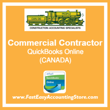 Commercial Contractor QuickBooks Online Chart Of Accounts Template Canada