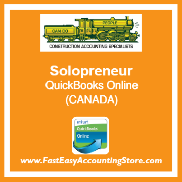 Solopreneur QuickBooks Online Chart Of Accounts Template Canada