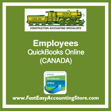 Employees QuickBooks Online Chart Of Accounts Template Canada