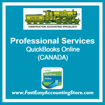Professional Services QuickBooks Online Chart Of Accounts Template Canada