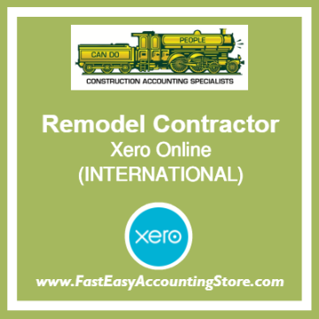 Remodel Contractor Xero Online International