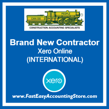Brand New Contractor Xero Online International