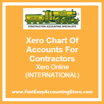 Xero Chart Of Accounts For International-Based Contractors