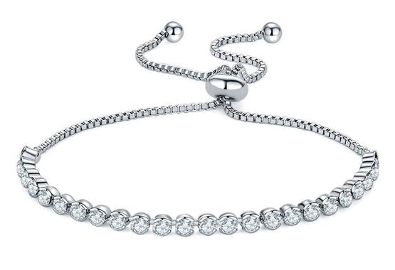 Rhinestone Adjustable Tennis Bracelet