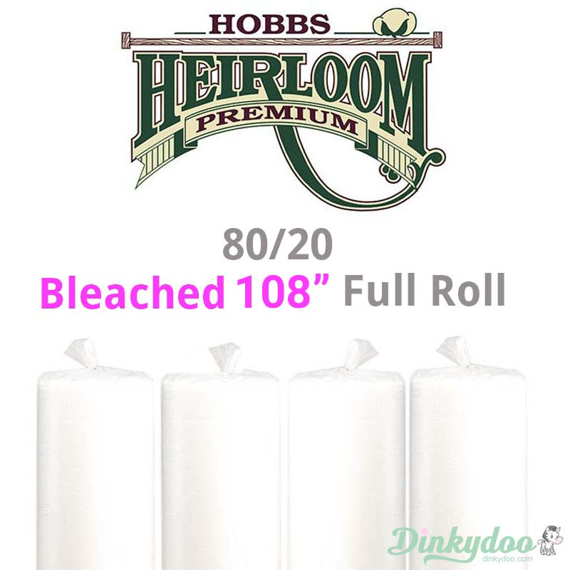 hobbs 80/20 bleached 108 full roll batting