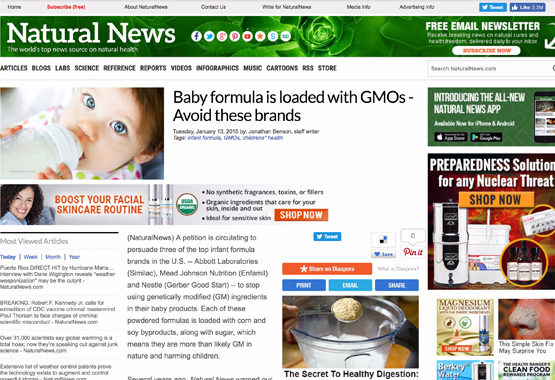Baby formula is loaded with GMOs - Avoid these brands
