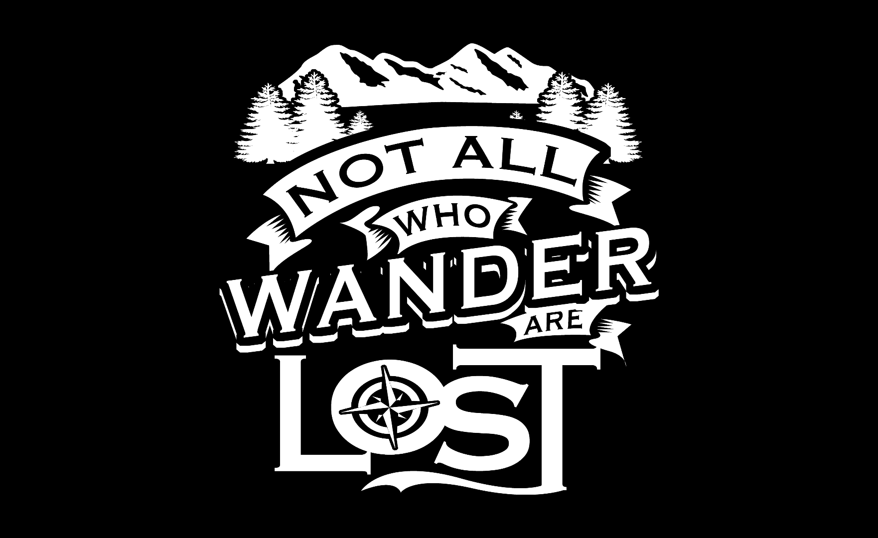 not all who wander are lost flag