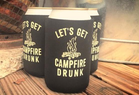 3 pack of let's get campfire drunk koozies