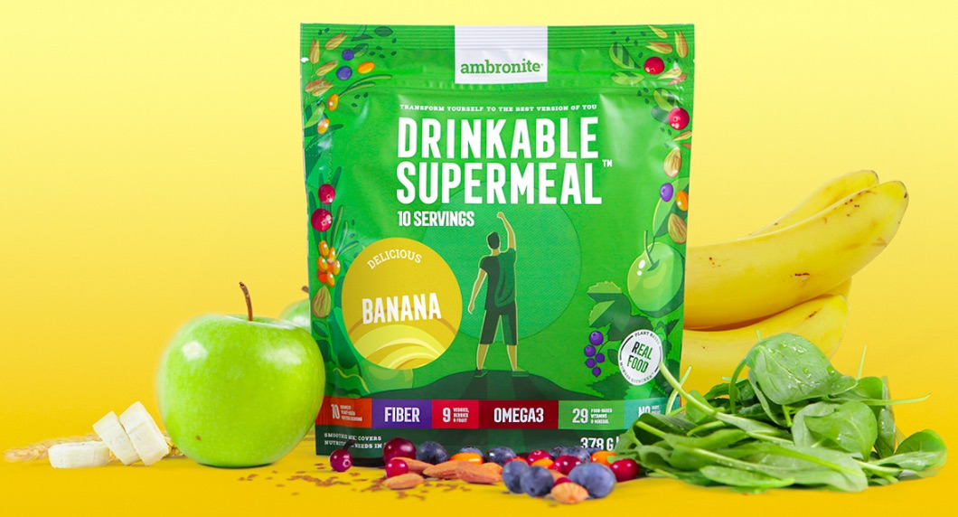 Ambronite Supermeal 1600 kcal Banana Flavor