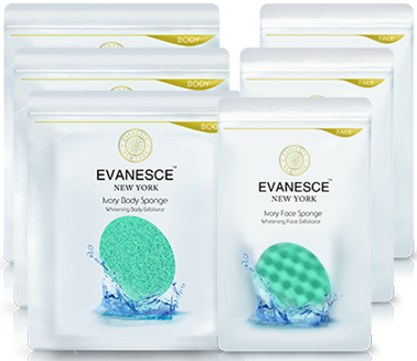 Ivory Face & Body Sponge (3 sets)