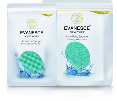 Ivory Face & Body Sponge set