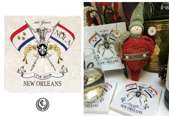 Marble Coaster NOLA2018 Celebrating New Orleans Tricentennial