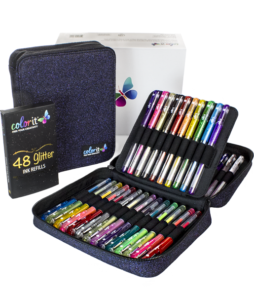 48 Glitter Gel Pens
