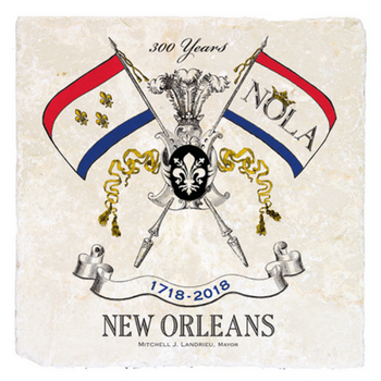 Marble Coaster Celebrating New Orleans Tricentennial