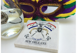 Marble Coaster to Celebrate the New Orleans Tricentennial