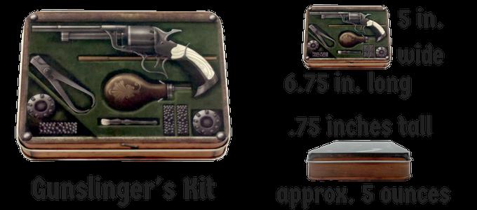 Gunslinger's Kit Metal Dice Case Stats