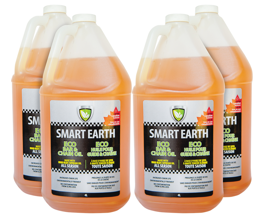 Smart Earth Bar and Chain Oil 4L 4 pack bundle Product Image