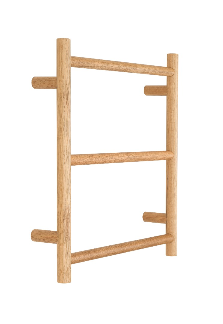 3 Rung Towel Rack - American Oak
