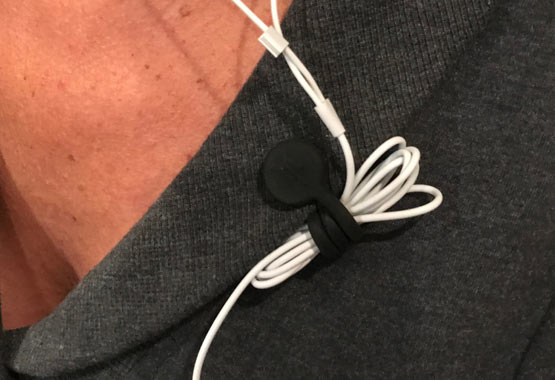 TwistieMag Magnetic Earphone Cord Shirt Clip