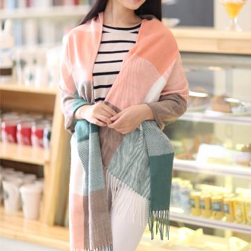 Beautiful Multi-color Plaid Patchwork Scarves