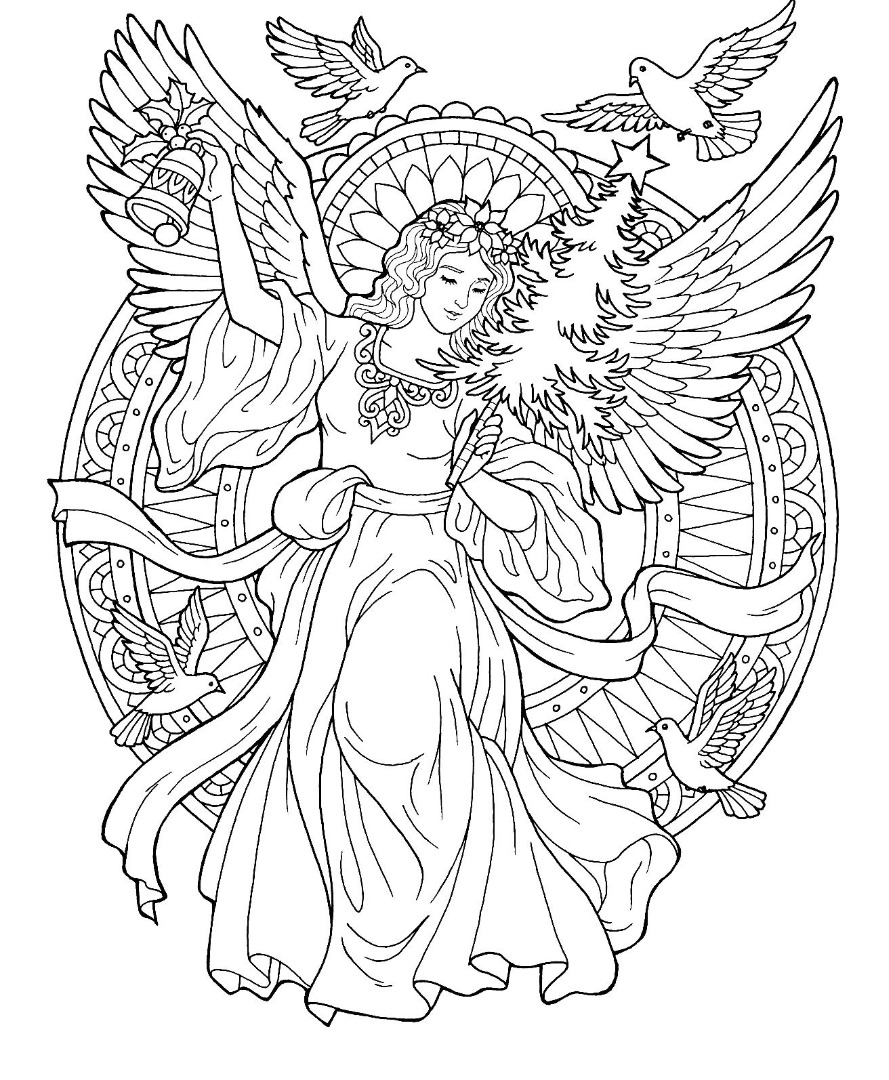 12 christmas drawing download ty for Coloring page angel