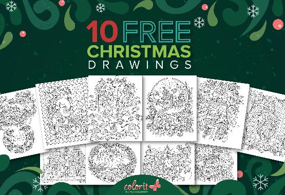 10 Free Christmas Drawings