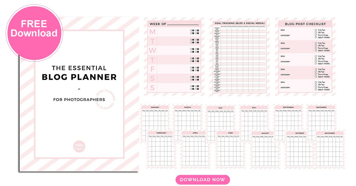 Free Photographer Blog Planner