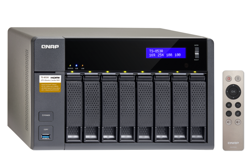 The TS-853A NAS server is designed to grow alongside with small and medium businesses