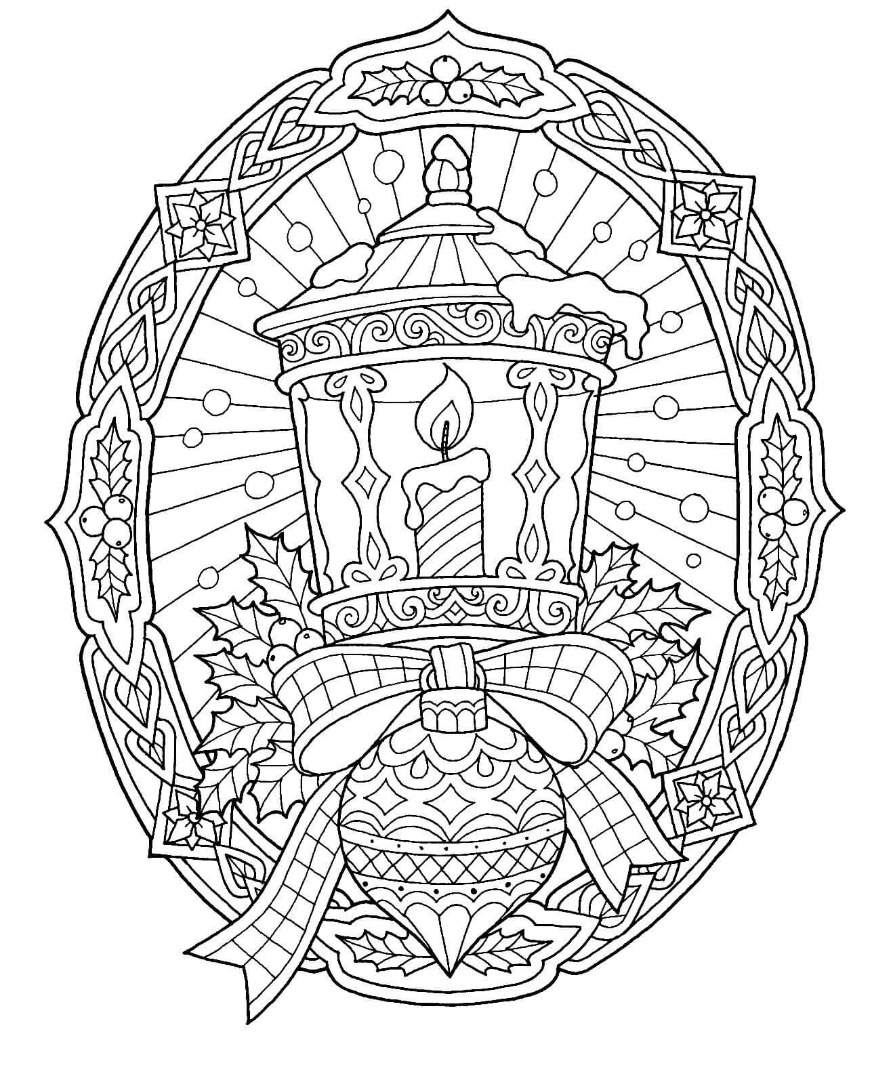 Christmas Drawing Coloring Page