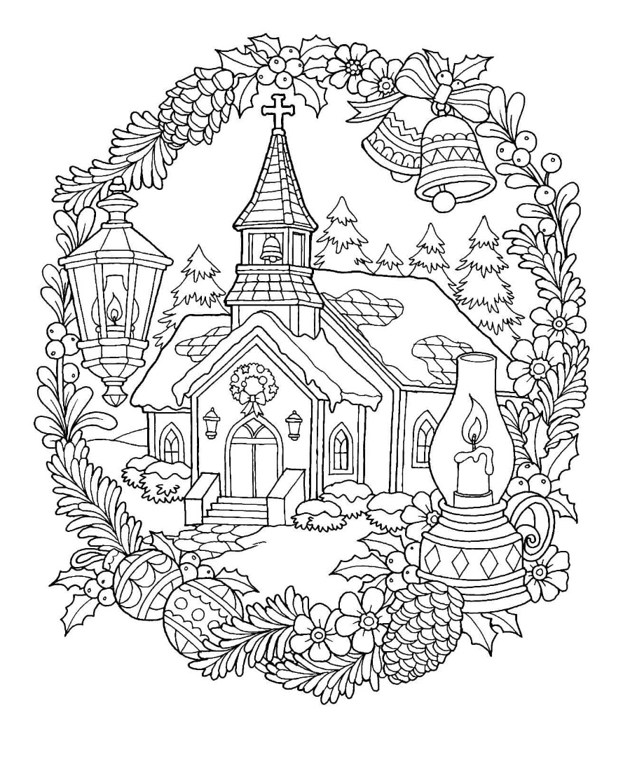 christmas coloring pages for childrens church | 6th Christmas Drawing
