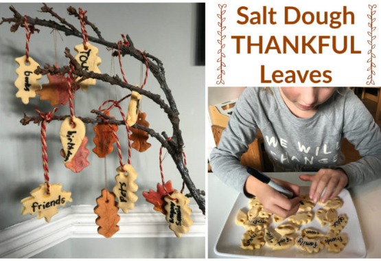 Salt Dough Thankful Leaves