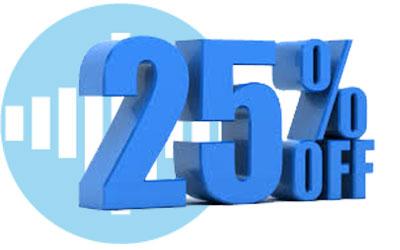 25% Off