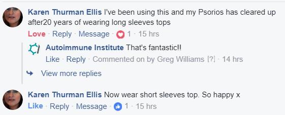 Turmeric Success FB Comment 1