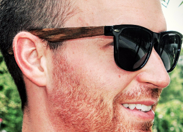 Eye Love Wood Wayfarer Sunglasses