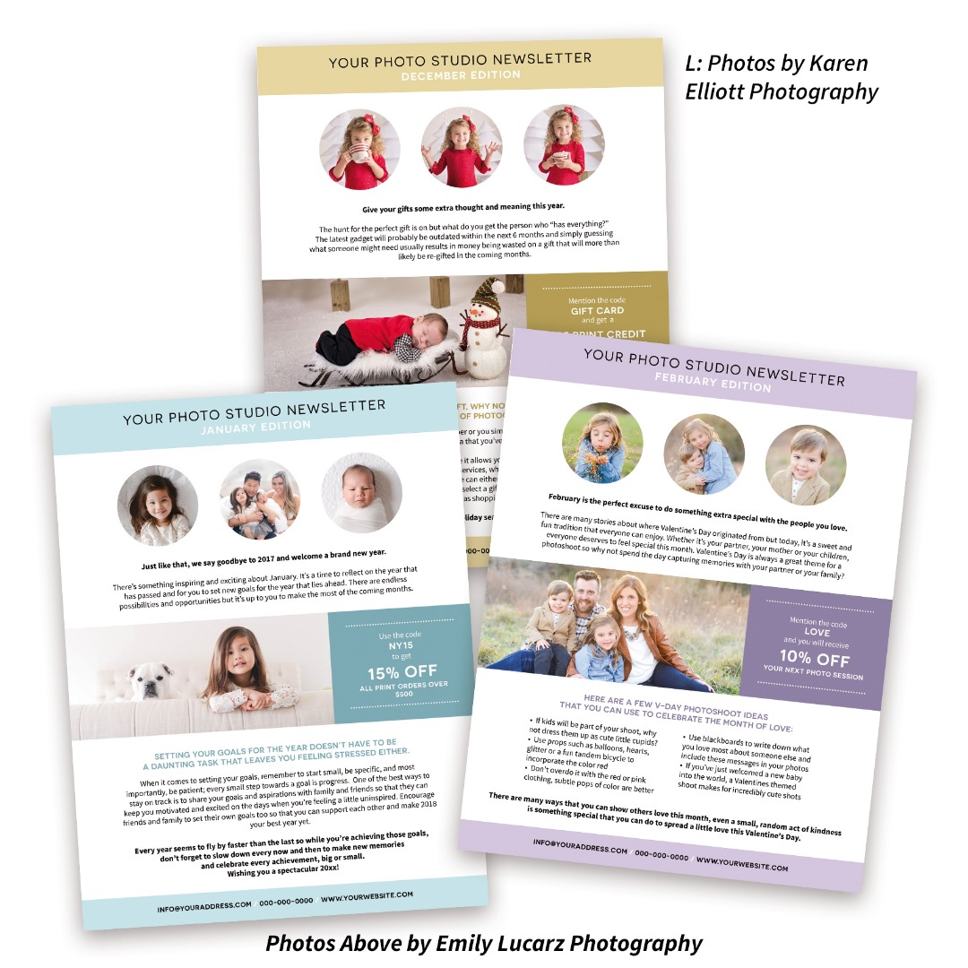 Newsletters for Photographers