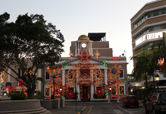 The pueblo of Aguadilla during the Holidays
