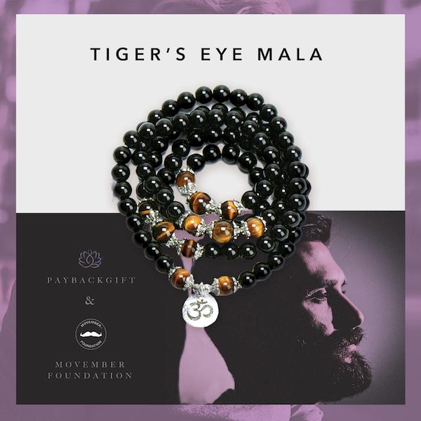 tiger's eye mala for movember