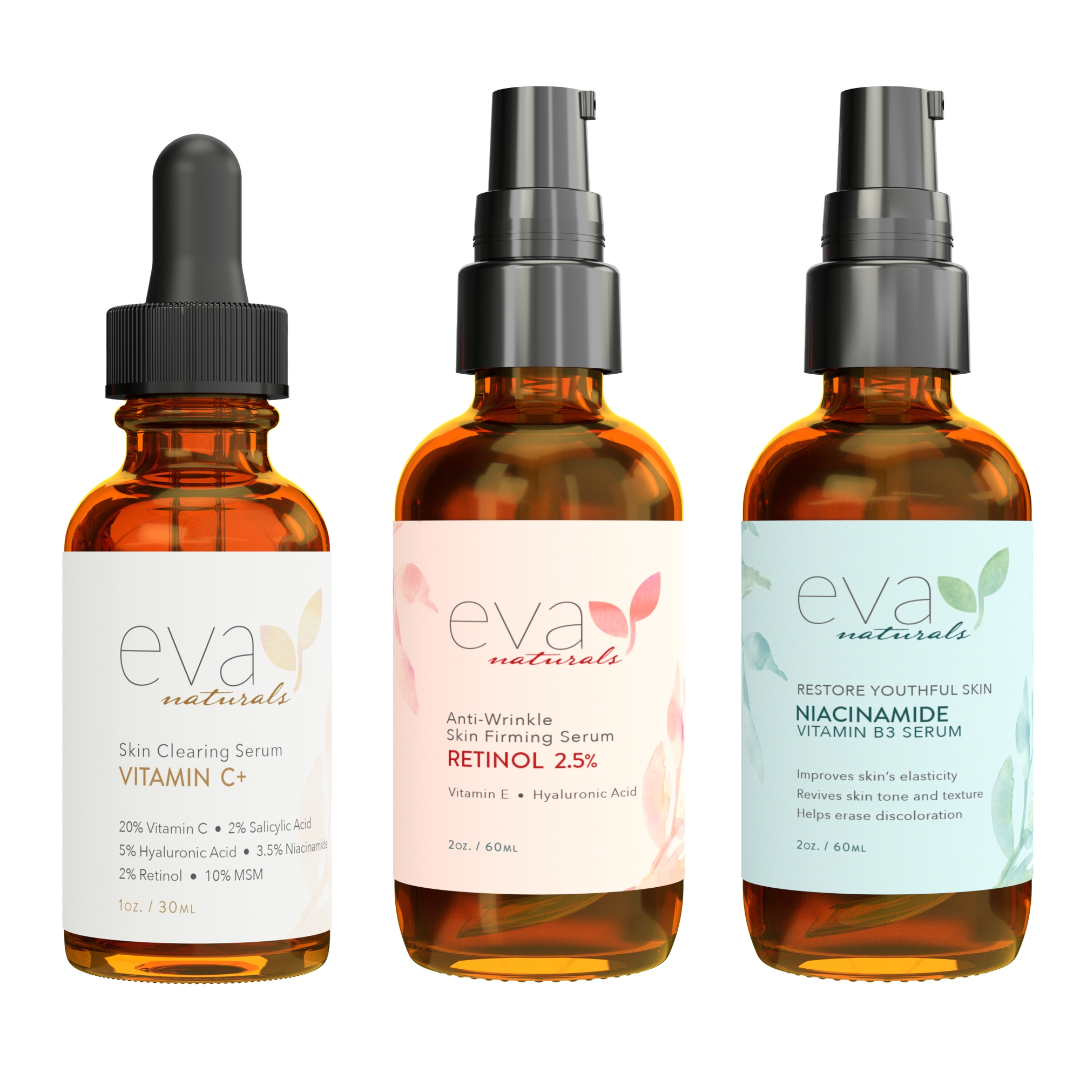 3 Serums Bundle - Vitamin C Plus, Retinol 2.5% & Niacinamde 5%