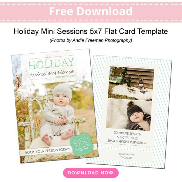 free holiday mini session template