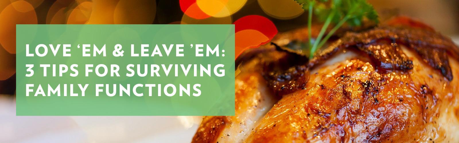 Love Em & Leave Em : 3 Tips for Surviving Family Functions