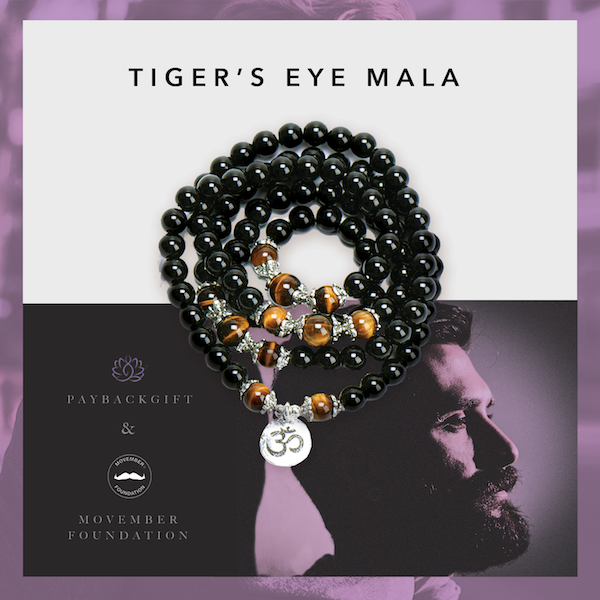 tiger's eye mala for movember