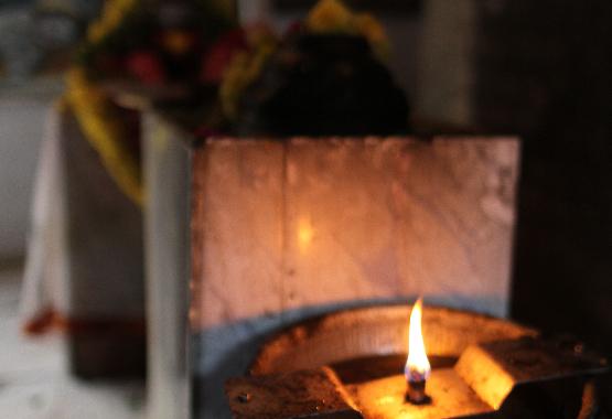 temple oil lamp