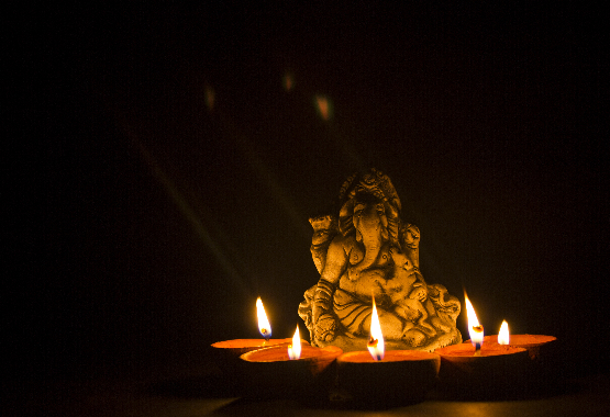 Ganesha oil lamp