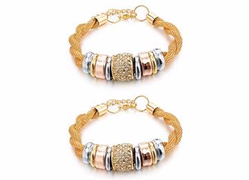Entwined Gold Metal Bracelet