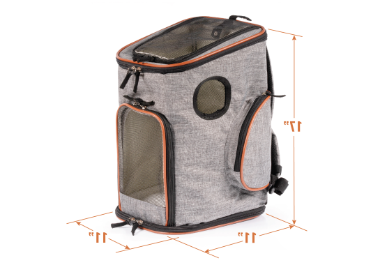 pet carrier backpack, extra secure and comfortable for traveling with pets